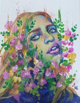 "SOLD. 11""x14"" Acrylic on canvas"
