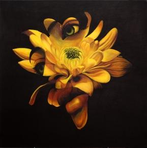 """Bloom"" Acrylic on canvas4' X 4'"