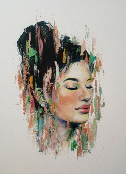 "SOLD. 18""x 24"" Acrylic on canvas"