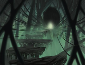 Maleficent Inner Lair Environment Concept Digital Painting with a Wacom Tablet on Photoshop