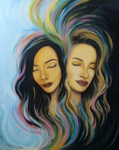 "SOLD.24""x30""Acrylic on canvas."