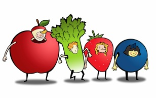 Character Concepts for Healthy Food Brand Created on Adobe Illustrator and Photoshop