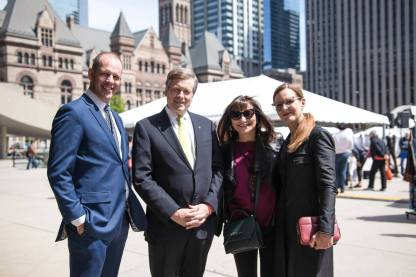 Toronto Mayor John Tory visits with URBANI_T founders and Jeanne Beker Photo by Brill Communications http://www.brillcommunications.ca/