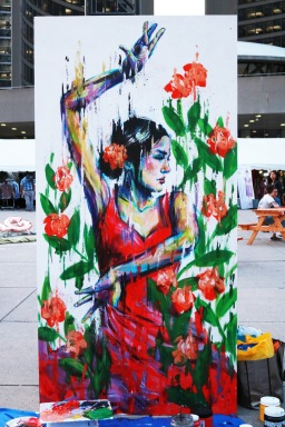 Live Mural Painting for URBANI_T Festival at Nathan Phillips Square