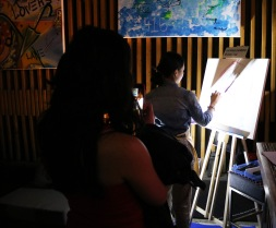 "Live Painting at Spice Route Asian Bar + Bistro ""Enchanted Forest"" Night."